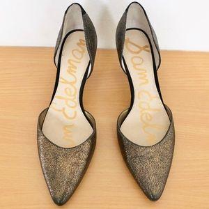 Sam Edelman Womens Black & Gold Pumps Heels 7.5